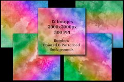 Rainbow Painted and Patterned Backgrounds - 12 Images Product Image 2