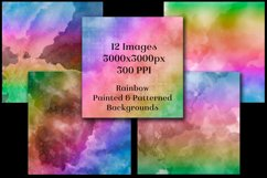 Rainbow Painted and Patterned Backgrounds - 12 Images Product Image 3