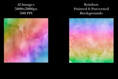 Rainbow Painted and Patterned Backgrounds - 12 Images Product Image 4