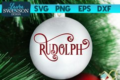 Reindeer Rudolph SVG Cut File   Christmas Ornament SVG Product Image 1