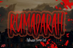 RUMADARAH - Halloween Horror Font Product Image 1