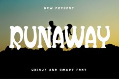 Runaway - Unique Display Font Product Image 1