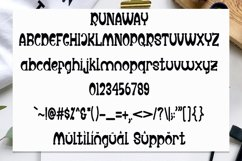 Runaway - Unique Display Font Product Image 3
