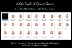 Rose Gold Elder Futhark Runes Set - Clipart Images Product Image 2