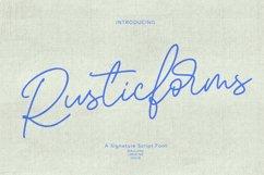 Rusticforms Signature Script Font Product Image 1