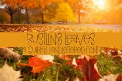 Web Font Rustling Leaves - A Quirky Handlettered Font Product Image 1