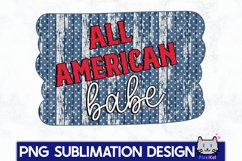 4TH OF JULY Sublimation|All american babe PNG Product Image 1