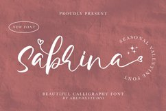 Sabrina - Beautiful Calligraphy Font Product Image 1