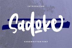 Sadoke - Handwritten Font Product Image 1