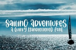 Web Font Sailing Vacation - A Quirky Handlettered Font Product Image 1