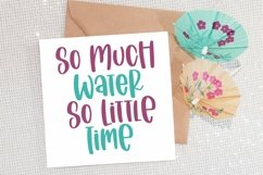 Web Font Sailing Vacation - A Quirky Handlettered Font Product Image 3