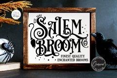 Salem Broom Co SVG   Halloween Design Product Image 1