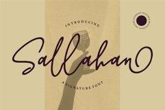Web Font Sallahan - A Signature Font Product Image 1
