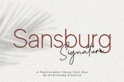 Sansburg | A Classy Elegant Font Duo Product Image 1