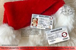 Santa Claus Driver's License Sublimation Design Front & Back PNG Add Your Own Santa Photo Imperial Units Gift From Santa