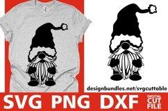 Santa Gnome svg, Christmas svg, Gnome svg, Santa Claus svg Product Image 1