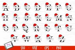 Santa Hat Split Letters A-Z - 26 Christmas Monogram Letters Product Image 2