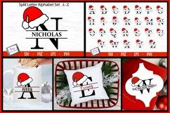 Santa Hat Split Letters A-Z - 26 Christmas Monogram Letters Product Image 3