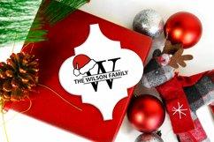 Santa Hat Split Letters A-Z - 26 Christmas Monogram Letters Product Image 5