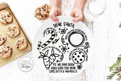 Santa Plate SVG | Christmas / Winter Round Design Product Image 1
