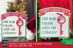 3D Santas Magic Key Layered Paper Cut Craft