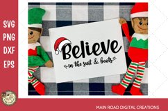 Santa's suit and boots Christmas Design, Christmas clipart, believe in santa