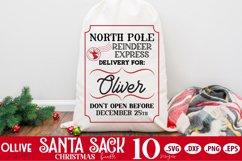 Santa Sack SVG Bundle | Christmas Santa Bag SVG Product Image 3