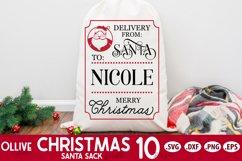 Santa Sack SVG Bundle Vol. 2 | Christmas Santa Bag SVG Product Image 3