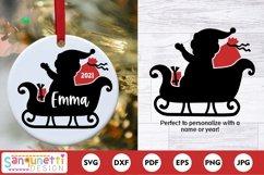 Santa Sleigh Christmas SVG Product Image 1