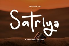 Web Font Satriya - A Handwritten Font Product Image 1