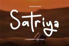 Satriya - A Handwritten Font Product Image 1