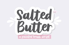 SALTED BUTTER Brush Script Font Product Image 1