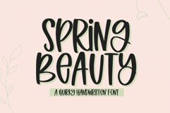 Spring Beauty - A Quirky Handwritten Font Product Image 1