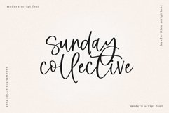 Sunday Collective - A Modern Script Font Product Image 1