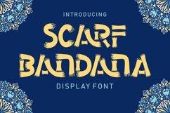 Scarf Bandana - Display Font Product Image 1