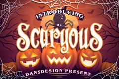 Scaryous halloween font Product Image 1
