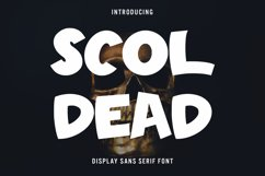 Scoldead - Display Sans Serif Font Product Image 1