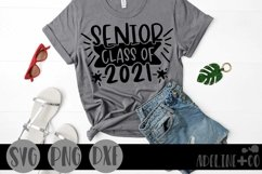 Senior class of 2021 shirt with banner