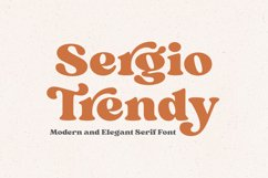 Modern Serif Font - Sergio Trendy Product Image 1