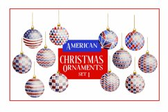 American Christmas Bauble Ornaments BIG BUNDLE 36 PNGS Product Image 2