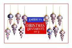 American Christmas Bauble Ornaments BIG BUNDLE 36 PNGS Product Image 3