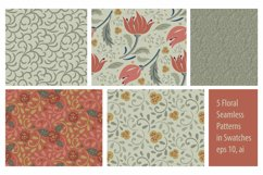 Floral seamless pattern. Swatches in eps 10, ai Product Image 2