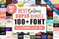Best Selling 100 Plus Fonts Super Bundle Product Image 1