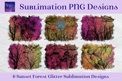 Sublimation PNG Designs - Sunset Forest Glitter Product Image 1