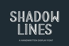 Web Font Shadow Lines - a handwritten display font Product Image 1