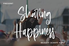 Sharing Happiness - Beauty Script Font Product Image 1