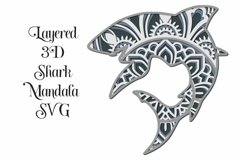 Layered mandala SVG for cutting machines