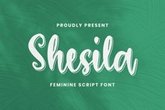 Web Font Shesila Font Product Image 1