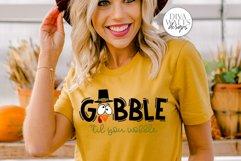 Gobble 'Til You Wobble SVG | Thanksgiving Turkey Design Product Image 4