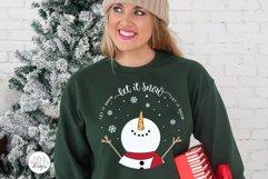 Let It Snow SVG | Christmas Snowman Design Product Image 2